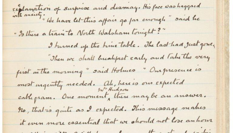 Рукопись Конан Дойля про Шерлока Холмса продана за 312 тысяч долларов