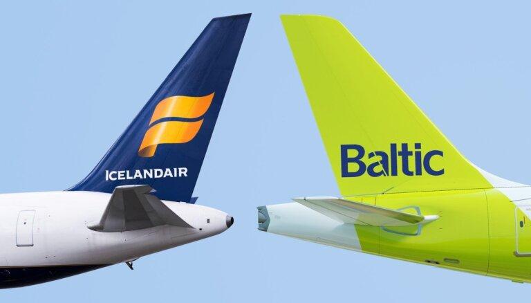 'airBaltic' un 'Icelandair' vienojušās par sadarbības lidojumiem