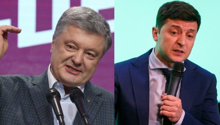 Provizoriskie rezultāti: Ukrainas vēlēšanu otrajā kārtā iekļuvis Zelenskis un Porošenko