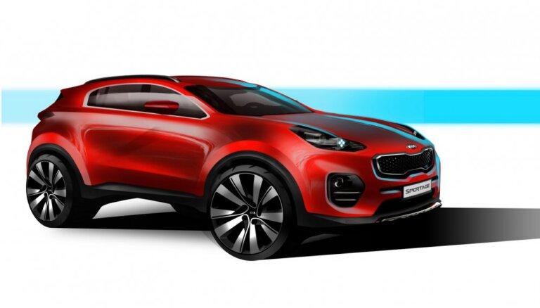 'Kia' parāda jaunā 'Sportage' dizaina skices