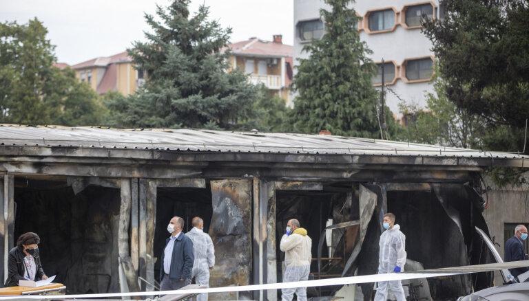 Ziemeļmaķedonijā izcēlies ugunsgrēks Covid-19 klīnikā; desmit cilvēki gājuši bojā