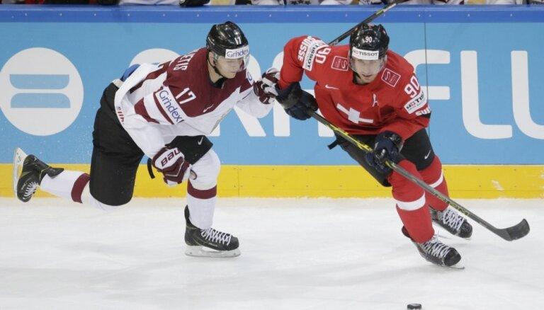Сборная Латвии проводит на чемпионате мира важнейший матч против Швейцарии