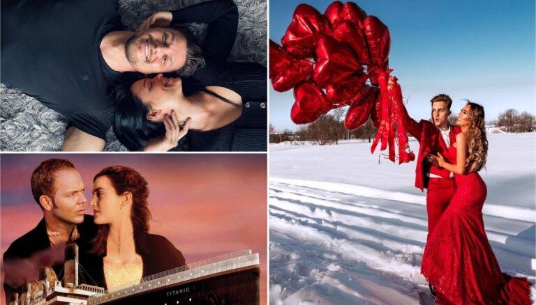 Privāti foto: Kā sabiedrībā zināmi ļaudis Valentīndienu atzīmēja
