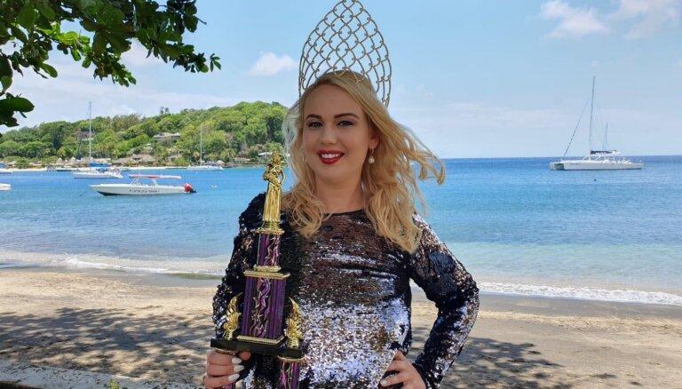 Viktorija no Latvijas triumfē prestižā apalīšu skaistumkonkursā Karību salās