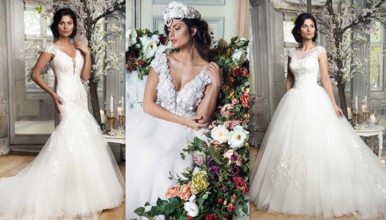 Foto: Mežģīnes un baltā nokrāsas – 'Ingrida Bridal' jaunā kāzu kleitu kolekcija