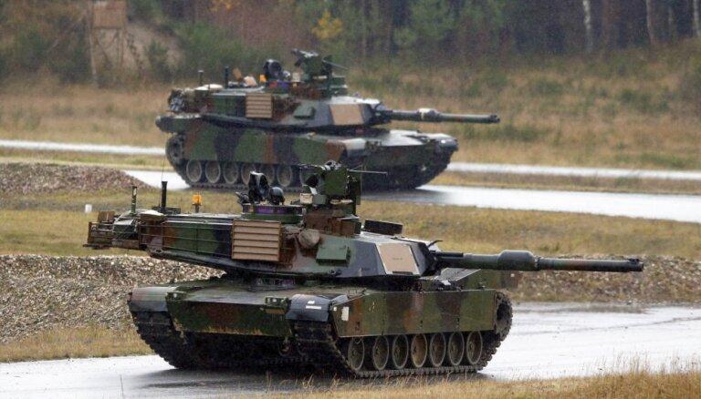 Rīgā ieradīsies sabiedroto tanki 'Abrams'; NBS iedzīvotājus aicina neuztraukties