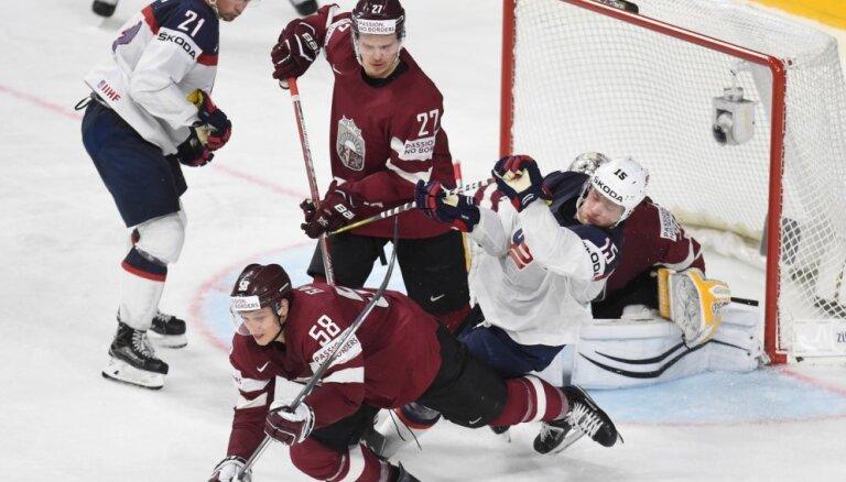 ФОТО, ВИДЕО: Сборная Латвии упустила преимущество в две шайбы и уступила США