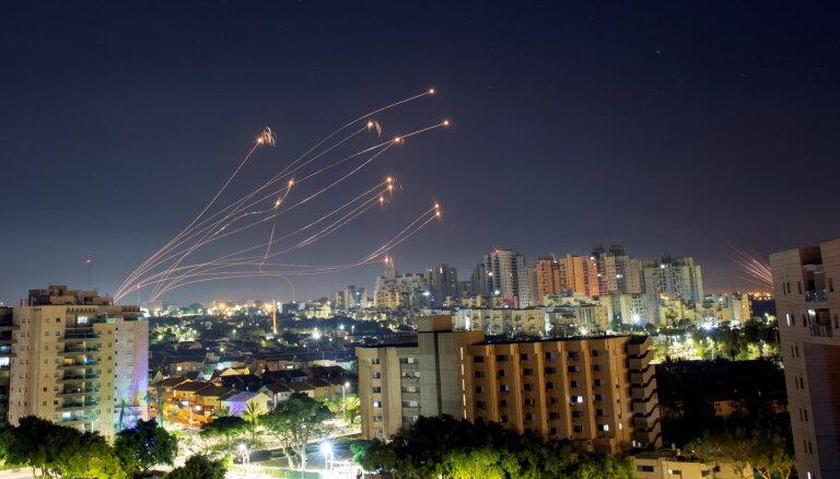 Palestīniešu raķešu uzbrukumi Izraēlai nerimst