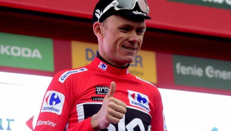 Frūms smagā kalnu posmā palielina pārsvaru 'Vuelta a Espana' velobrauciena kopvērtējumā