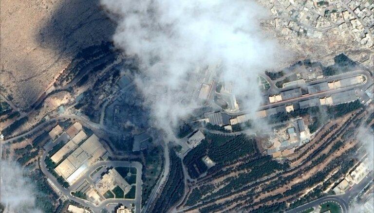 Sīrijas pretgaisa aizsardzība atbild uz Izraēlas uzbrukumu pie Damaskas