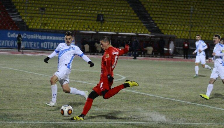 ВИДЕО: Футболисты сборной Латвии провели кубковые матчи