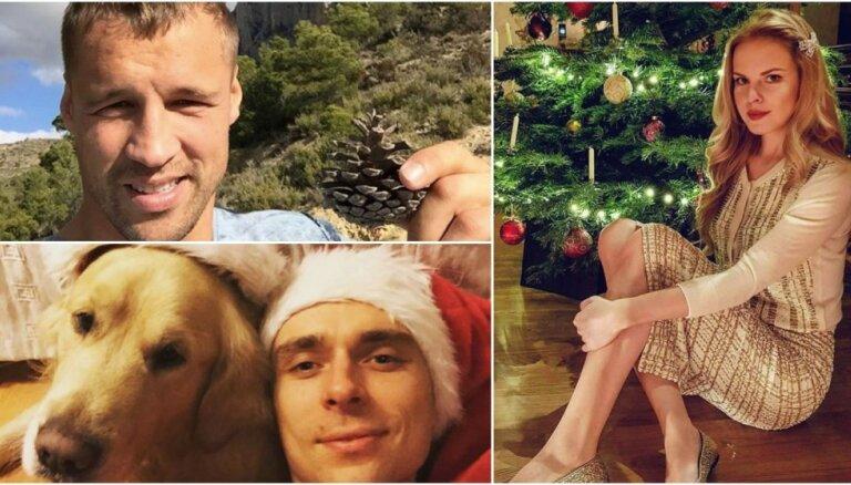 Foto: Kā latviešu slavenības svinēja Ziemassvētkus