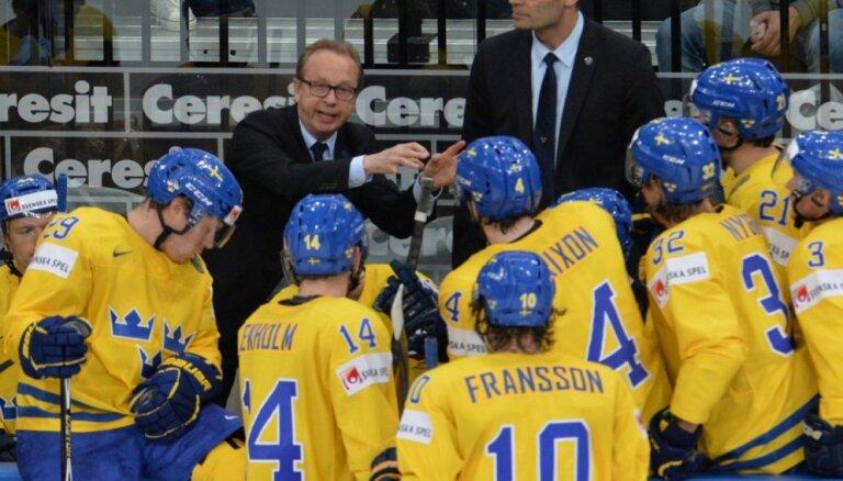 Zviedri sagaida smagu spēli ar Krieviju PČ pusfinālā