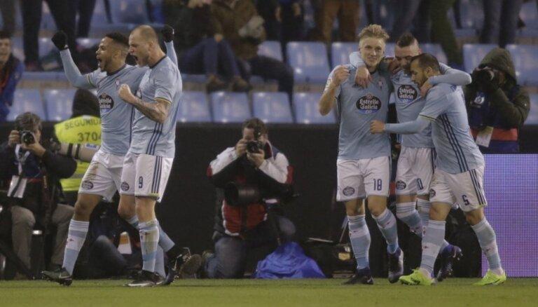 'Celta Vigo' jau ceturtdaļfinālā izslēdz 'Real Madrid' no Spānijas karaļa kausa