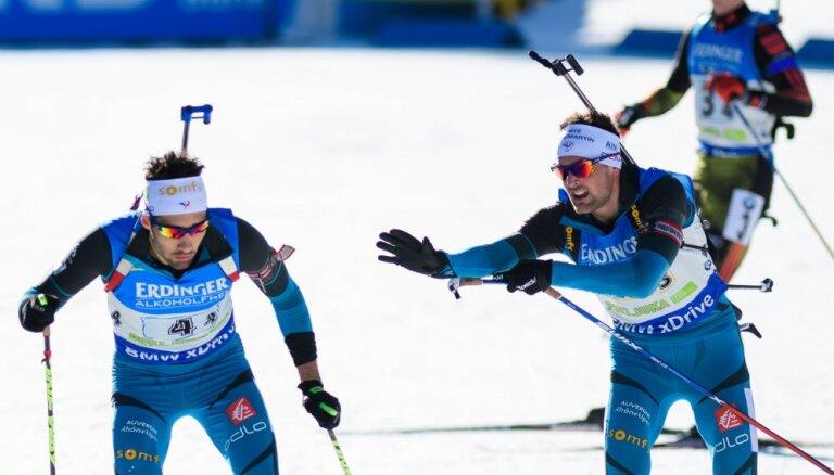 Французы доминируют в эстафете, Россия — вторая, Латвия гонку провалила