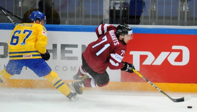 Nosaukts Latvijas hokeja izlases sastāvs spēlēm pret Zviedriju