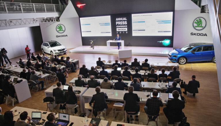 'Škoda' pērn sasniegusi piegāžu skaita un pārdošanas ieņēmumu rekordu