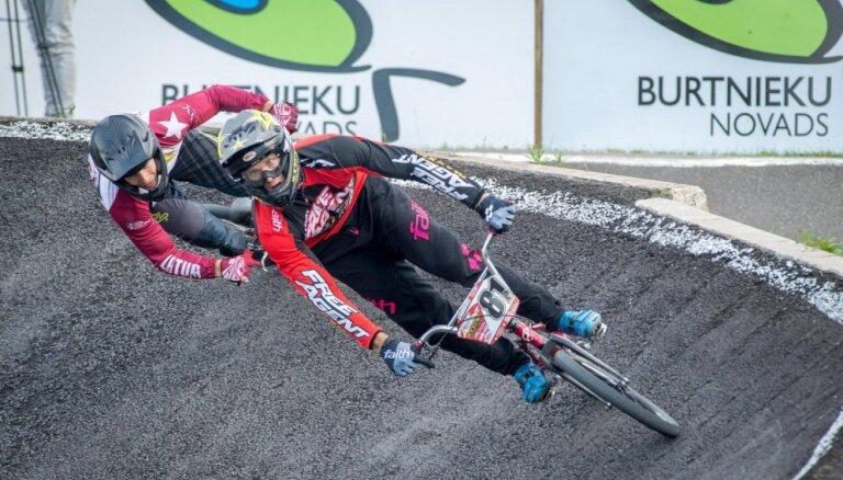 Štrombergs triumfē BMX riteņbraukšanas sacensībās Latvijas IV Olimpiādē