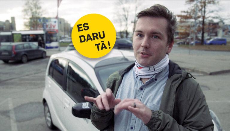 Video: Kārlis Mendziņš izvizina Madaru Botmani ar savu elektroauto