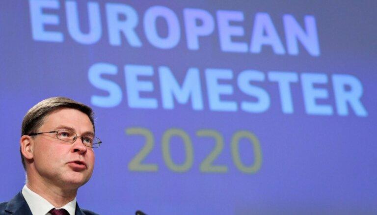 Dombrovskis: Latvijai krīzes laikā jāpaplašina ienākumu atbalsta saņēmēju loks