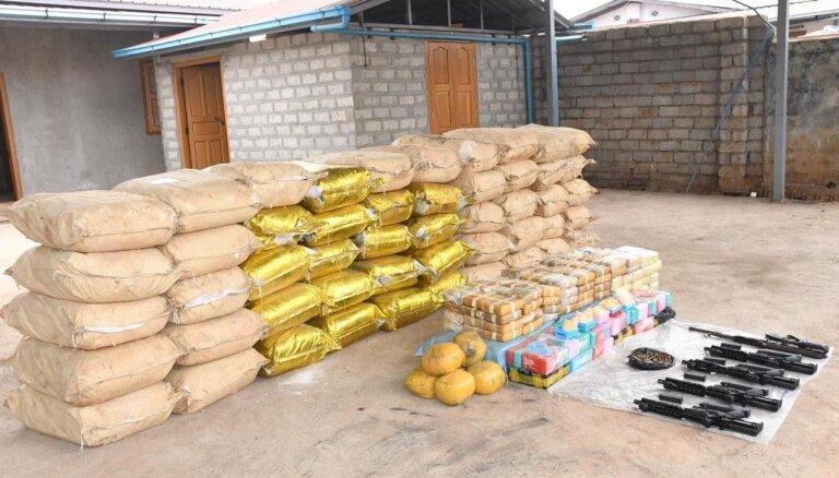 Mjanmas policija konfiscē milzīgu apjomu sintētisko narkotiku