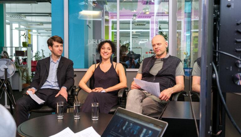 'Delfi TV ar Jāni Domburu': skaistumkonkurss un solījumi Rīgas vēlēšanās