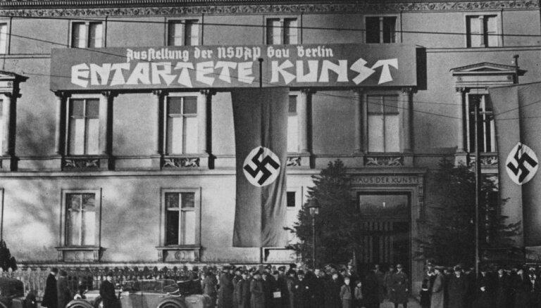 Hitlera atriebes mirklis modernismam: 'Deģenerātu mākslas' izstāde