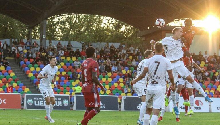 Rezultatīvs neizšķirts Liepājā – RFS izglābjas aizraujošas spēles pēdējās sekundēs