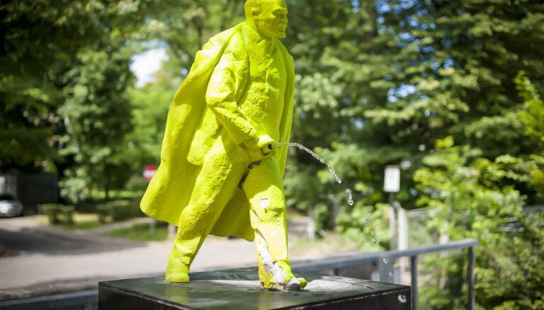 В польском Кракове появился зеленый писающий Ленин