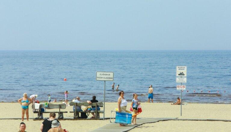 Vidzemes piekrastē ūdens temperatūra pakāpusies līdz +23 grādiem