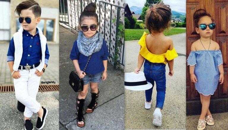 Kad bērni iekāpuši pieaugušo kurpēs: bērnu modes no augstākajiem plauktiem