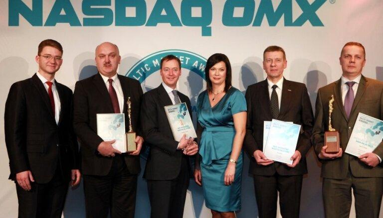 Foto: 'Latvenergo' un Valsts kase iegūst biržas gada balvu