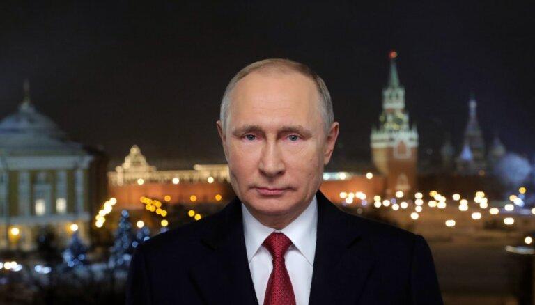 Британский таблоид счел дерзким новогоднее обращение Путина