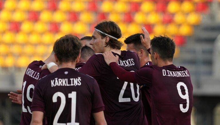 Latvijas futbolisti viesos tiekas ar vareno Vāciju