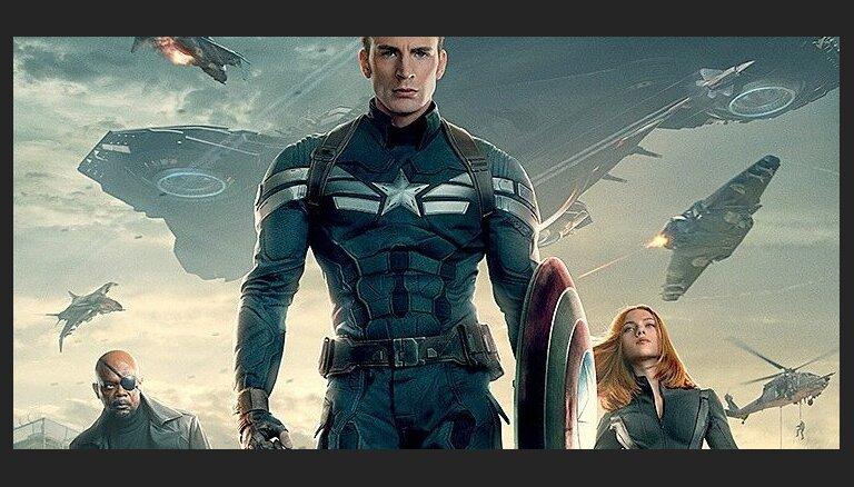 Latvijas kino sāk rādīt fantastikas filmu 'Kapteinis Amerika: Ziemas kareivis'