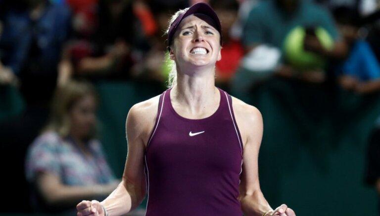 Ukrainas tenisiste Svitoļina Singapūrā iekļūst WTA sezonas noslēguma turnīra finālā