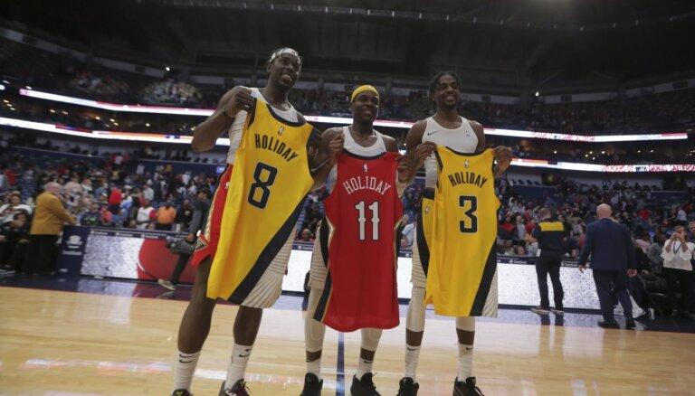 Brāļu Holideju trio ieiet NBA vēsturē