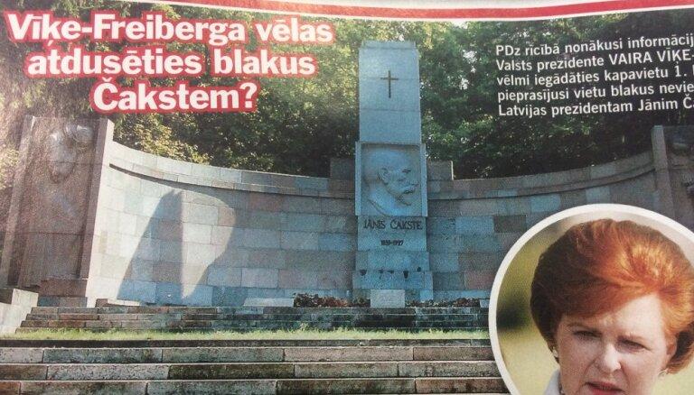 Vīķe-Freiberga: es lūgtu pirms laika mani vēl kapā negrūst