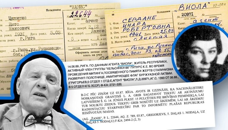 'Maisi vaļā': 'Žanis' un 'Viola' – vai čekai ziņoja arī disidenta sieva? Atbild Ints Cālītis