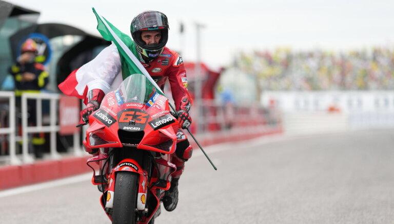 Banjaja 'MotoGP' posmā Sanmarīno veiksmīgi aizstāv līderpozīciju un izcīna uzvaru