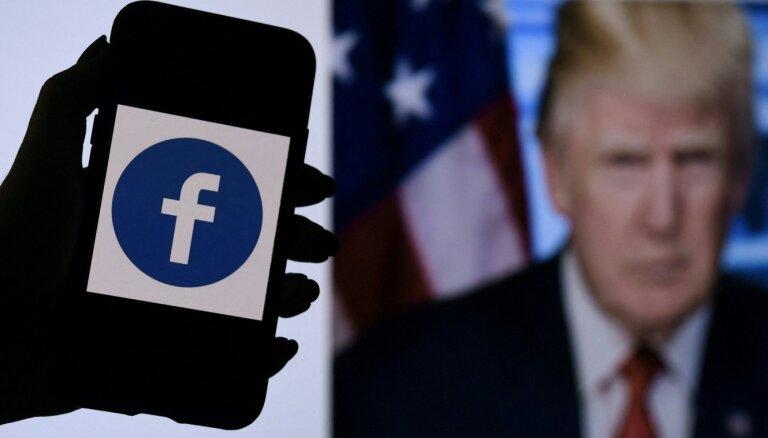 'Facebook' Uzraudzības padome atbalsta Trampa profilu bloķēšanu
