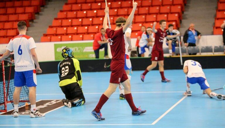 Latvijas U-19 izlases florbolisti pasaules čempionātu noslēdz piektajā vietā