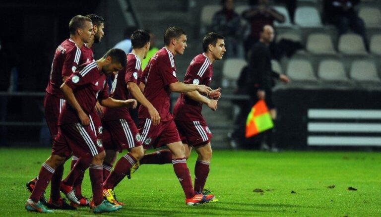 Latvijas futbola izlase zaudē piecas pozīcijas FIFA rangā