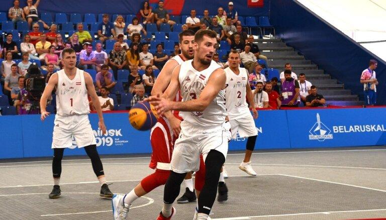 Latvijas 3x3 basketbolisti izcīna Eiropas spēļu sudrabu