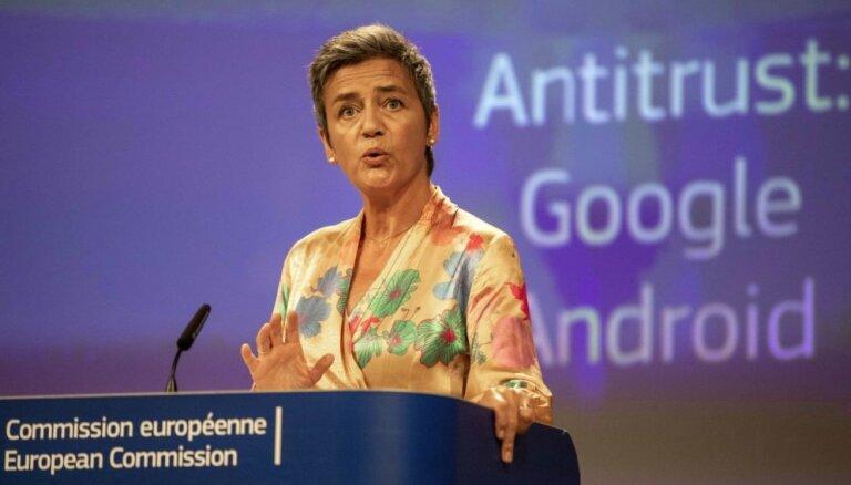 ES piespriež sodu 'Google' 4,3 miljardu eiro apmērā