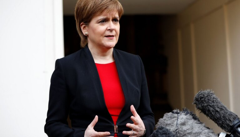 Skotijas līdere paziņo par jauna neatkarības referenduma rīkošanu