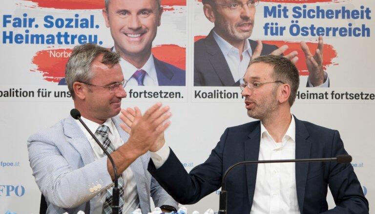 Austrijas galēji labējie pēc vēlēšanām vēlas atjaunot koalīciju ar konservatīvajiem