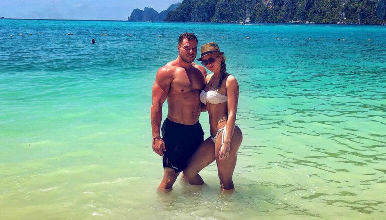 Foto: Fitnesa skaistuļu Paulas un Pētera atpūta Taizemē