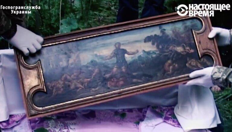 Ukrainā mežā atrod miljoniem vērtas vecmeistaru gleznas