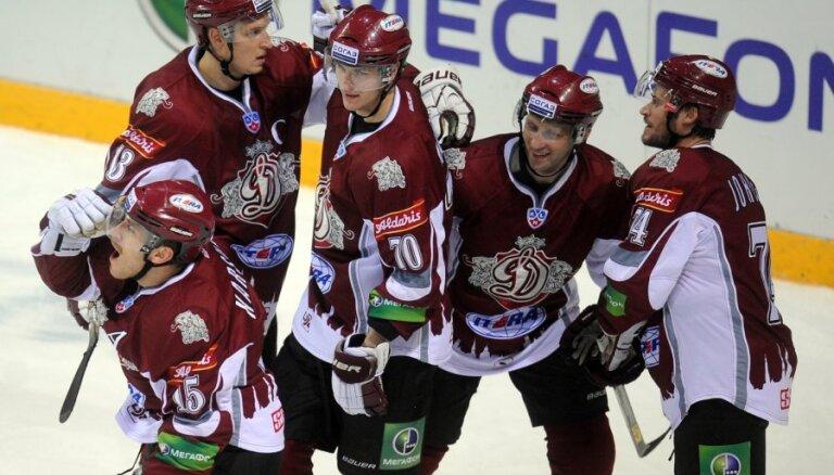 Rīgas 'Dinamo' savā laukumā uzņem Gagarina kausa īpašniekus Maskavas 'Dinamo'